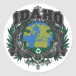 Pride Recycle Idaho Round Stickers