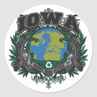 Pride Recycle Iowa Stickers