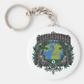 Pride Recycle Massachusetts Keychains