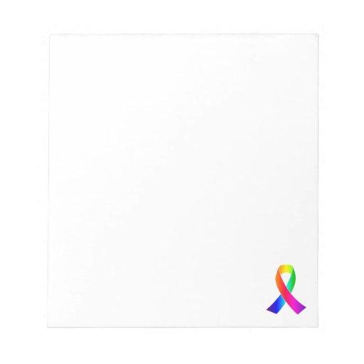 Pride Ribbon Awareness Gay and Lesbian Notepads