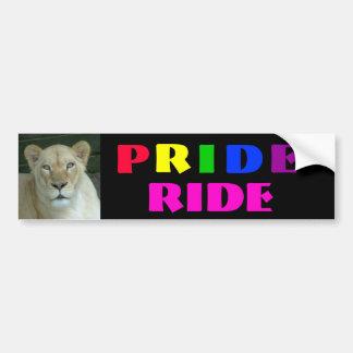 Pride Ride Bumper Sticker