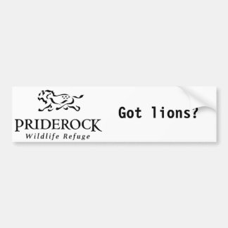 "Pride Rock ""Got lions?"" bumper sticker"