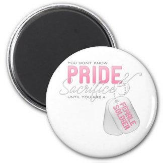 Pride & Sacrifice - Female Soldier Magnet