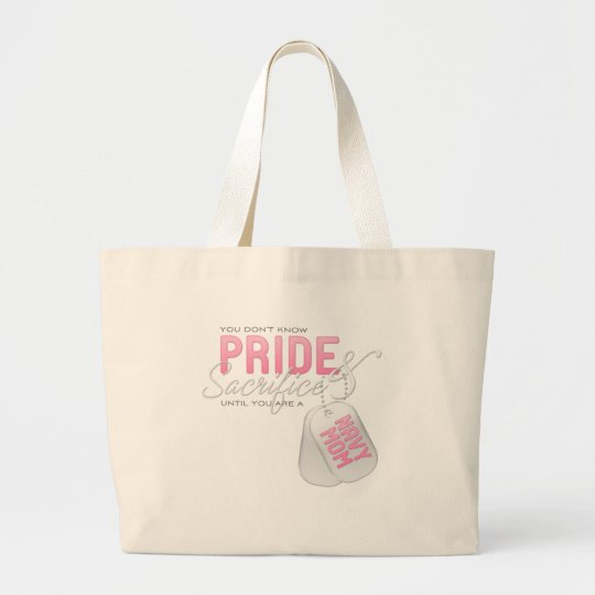 Pride & Sacrifice - Navy Mom Large Tote Bag