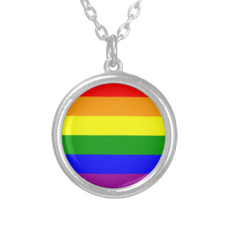 pride silver plated necklace