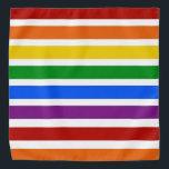 "Pride Strips Bandana<br><div class=""desc"">Bright Rainbow Colored Bandana</div>"