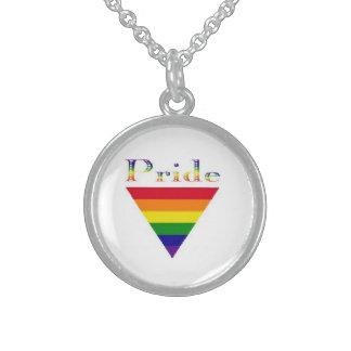 pride triangle necklace