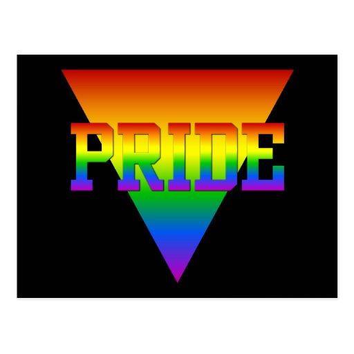 Pride triangle postcard, customize postcard