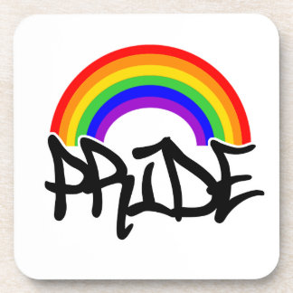 Pride with Rainbow Drink Coaster
