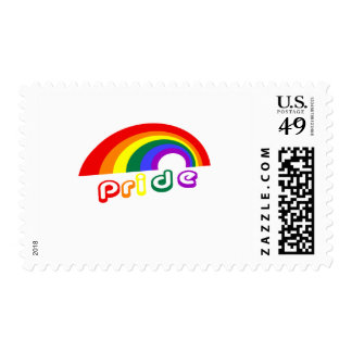 """Pride"" with rainbow Postage"