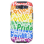 PRIDE WORD PATTERN COLOR -.png Samsung Galaxy S3 Covers