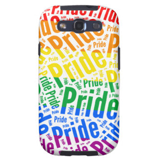 PRIDE WORD PATTERN COLOR -.png Galaxy S3 Covers