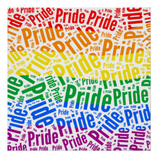 PRIDE WORD PATTERN COLOR -.png Poster