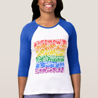 PRIDE WORD PATTERN COLOR -.png T-Shirt