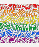 PRIDE WORD PATTERN COLOR -.png T Shirts