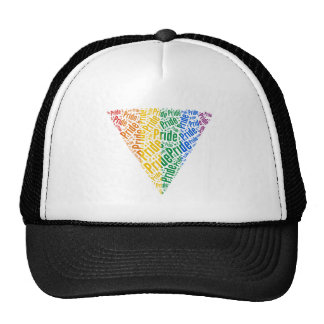 PRIDE WORD TRIANGLE COLOR -.png Mesh Hat