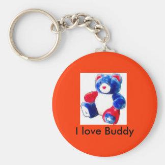 pridebear, I love Buddy Key Chains