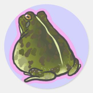Prideful Pyxie Frog Classic Round Sticker