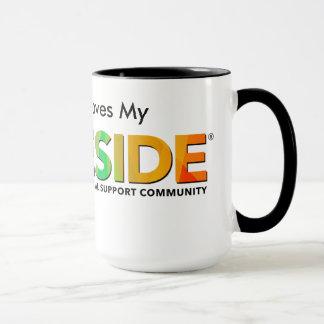 PRIDESIDE® Black 15 oz Combo Mug