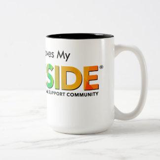 PRIDESIDE® Black 15 oz Two-Tone Mug
