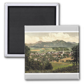 Prien on Chiemsee, Upper Bavaria, Germany rare Pho 2 Inch Square Magnet