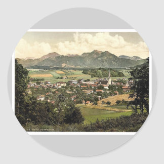 Prien on Chiemsee, Upper Bavaria, Germany rare Pho Round Stickers