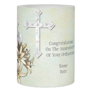 Priest Anniversary 15th 20th 25th 30th 40th 50th Flameless Candle