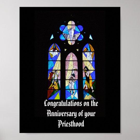 25 30 Anniversary Cap: Priest Anniversary 15th 20th 25th 30th 40th 50th Poster
