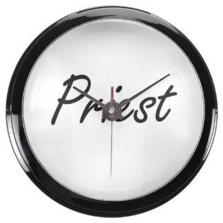Priest Artistic Job Design Fish Tank Clocks