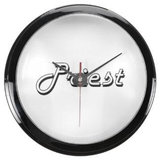 Priest Classic Job Design Fish Tank Clock