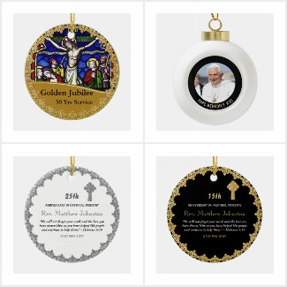 Priest Clergy Ornament - Personalized
