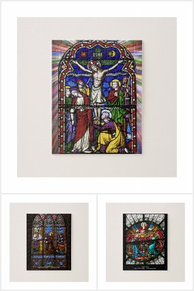 Priest Clergy Stained Glass Window Jigsaw Puzzles