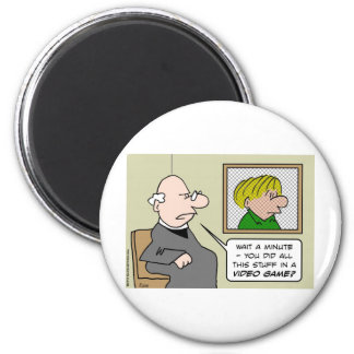 priest confessional video games magnet