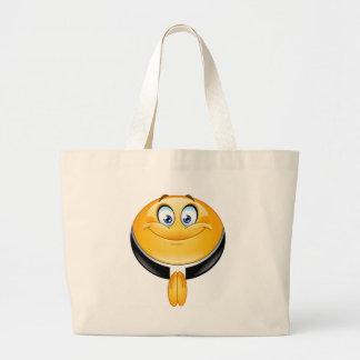 priest emoji large tote bag