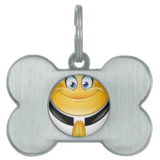 priest emoji pet tag