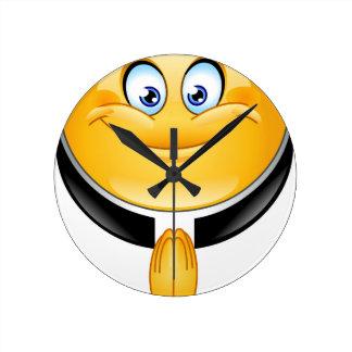 priest emoji round wall clock