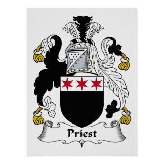 Priest Family Crest Posters