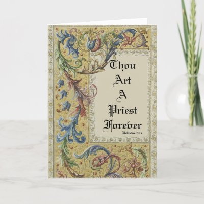 PRIEST FIRST MASS CHALICE HOST ORDINATION CARD