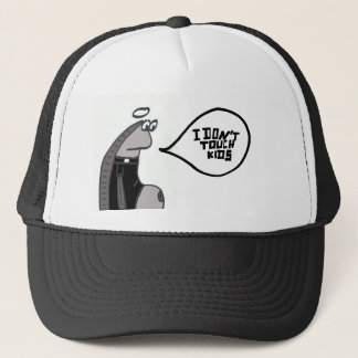 priest fish touch kids trucker hat