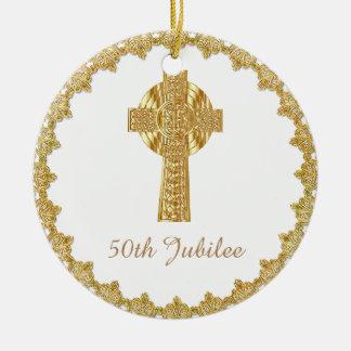 Priest Golden Jubilee Personalized Ceramic Ornament
