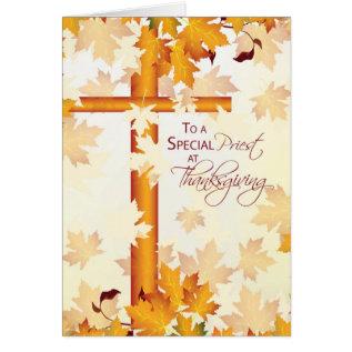 Priest Happy Thanksgiving, Catholic Card at Zazzle