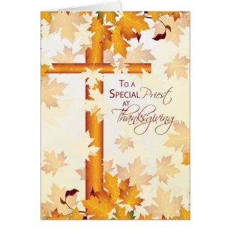 Priest Happy Thanksgiving, Catholic Greeting Card