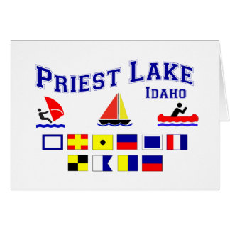 Priest Lake ID Signal Flags Card