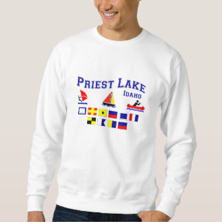 Priest Lake ID Signal Flags Sweatshirt