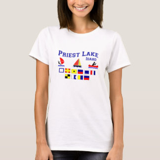 Priest Lake ID Signal Flags T-Shirt