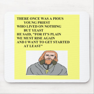 priest limerick humor mouse mats
