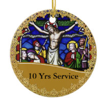 Priest Ordination 10th Anniversary Commemorative Ceramic Ornament