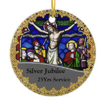 Priest Ordination 25th Anniversary Commemorative Ceramic Ornament