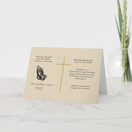 Priest ordination anniversary card any years zazzle priest ordination anniversary card any years m4hsunfo
