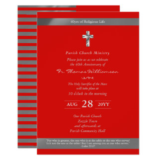 Priest Ordination Anniversary Invites - Ruby 40th